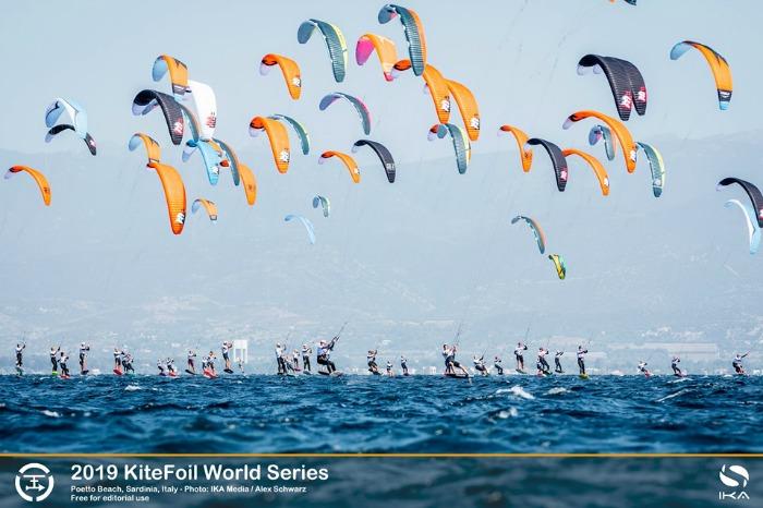 kitesurf, kitesurfing, Poetto, Cagliari, Sardinia Grand Slam